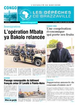 Les Dépêches de Brazzaville : Édition brazzaville du 20 janvier 2015