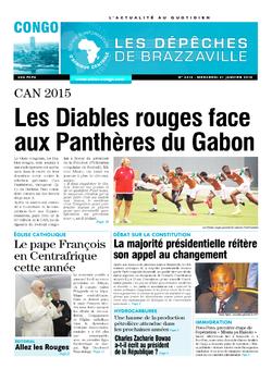 Les Dépêches de Brazzaville : Édition brazzaville du 21 janvier 2015