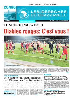 Les Dépêches de Brazzaville : Édition brazzaville du 26 janvier 2015