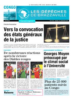 Les Dépêches de Brazzaville : Édition brazzaville du 27 janvier 2015
