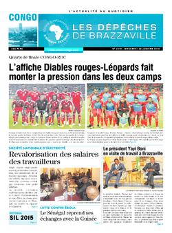 Les Dépêches de Brazzaville : Édition brazzaville du 28 janvier 2015
