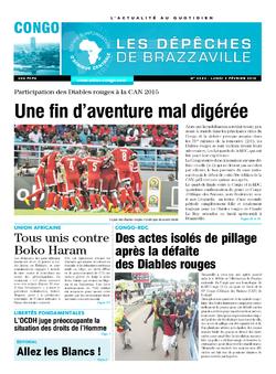 Les Dépêches de Brazzaville : Édition brazzaville du 02 février 2015