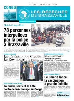 Les Dépêches de Brazzaville : Édition brazzaville du 04 février 2015