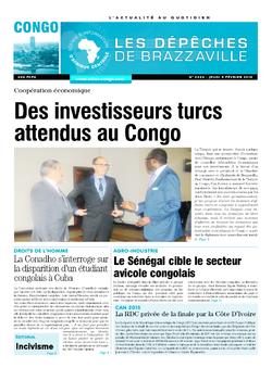 Les Dépêches de Brazzaville : Édition brazzaville du 05 février 2015