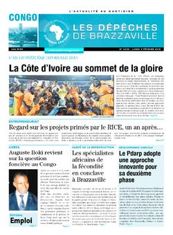 Les Dépêches de Brazzaville : Édition brazzaville du 09 février 2015