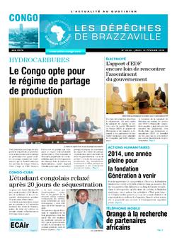 Les Dépêches de Brazzaville : Édition brazzaville du 12 février 2015