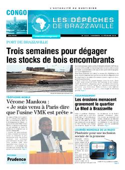 Les Dépêches de Brazzaville : Édition brazzaville du 13 février 2015