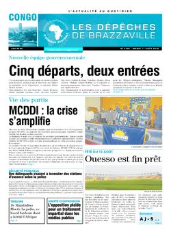 Les Dépêches de Brazzaville : Édition brazzaville du 11 août 2015