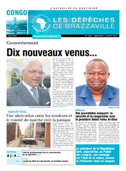 Les Dépêches de Brazzaville : Édition brazzaville du 12 août 2015