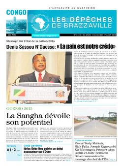 Les Dépêches de Brazzaville : Édition brazzaville du 13 août 2015