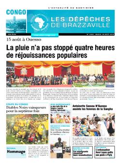 Les Dépêches de Brazzaville : Édition brazzaville du 18 août 2015