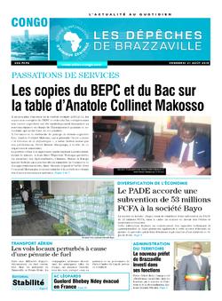 Les Dépêches de Brazzaville : Édition brazzaville du 21 août 2015