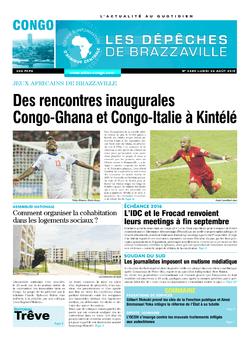 Les Dépêches de Brazzaville : Édition brazzaville du 24 août 2015