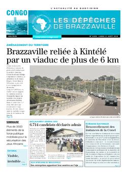 Les Dépêches de Brazzaville : Édition brazzaville du 31 août 2015