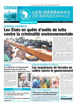 Les Dépêches de Brazzaville : Édition brazzaville du 01 septembre 2015
