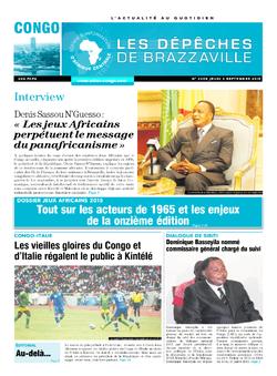 Les Dépêches de Brazzaville : Édition brazzaville du 03 septembre 2015