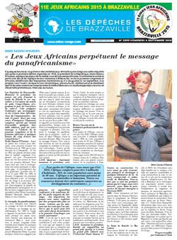 Les Dépèches de Brazzaville : Edition spéciale du 04 septembre 2015