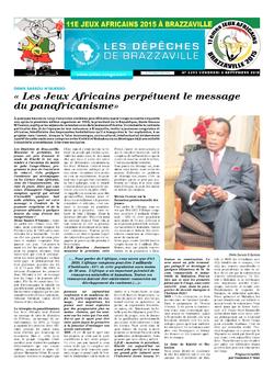 Les Dépêches de Brazzaville : Édition brazzaville du 06 septembre 2015