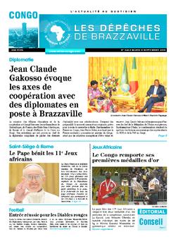 Les Dépêches de Brazzaville : Édition brazzaville du 08 septembre 2015