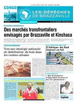 Les Dépêches de Brazzaville : Édition brazzaville du 09 septembre 2015