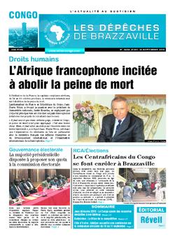 Les Dépêches de Brazzaville : Édition brazzaville du 10 septembre 2015