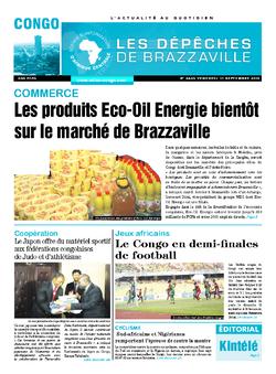 Les Dépêches de Brazzaville : Édition brazzaville du 11 septembre 2015