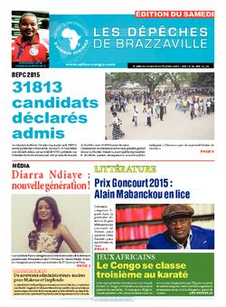 Les Dépêches de Brazzaville : Édition du 6e jour du 12 septembre 2015