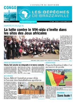 Les Dépêches de Brazzaville : Édition brazzaville du 15 septembre 2015