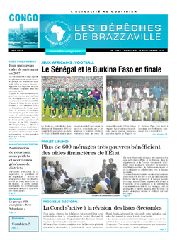 Les Dépêches de Brazzaville : Édition brazzaville du 16 septembre 2015