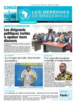 Les Dépêches de Brazzaville : Édition brazzaville du 18 septembre 2015