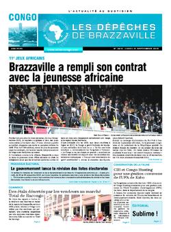 Les Dépêches de Brazzaville : Édition brazzaville du 21 septembre 2015