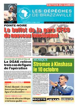 Les Dépêches de Brazzaville : Édition du 6e jour du 26 septembre 2015