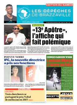 Les Dépêches de Brazzaville : Édition du 6e jour du 10 octobre 2015