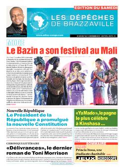 Les Dépêches de Brazzaville : Édition du 6e jour du 07 novembre 2015