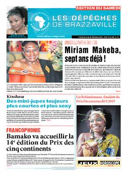 Les Dépêches de Brazzaville : Édition du 6e jour du 14 novembre 2015