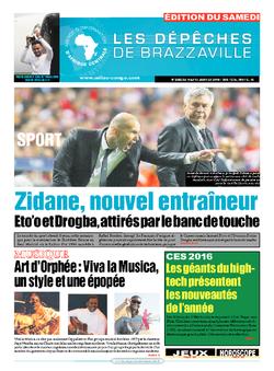 Les Dépêches de Brazzaville : Édition du 6e jour du 09 janvier 2016