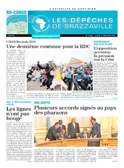 Les Dépêches de Brazzaville : Édition kinshasa du 08 février 2016