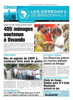 Les Dépêches de Brazzaville : Édition brazzaville du 10 février 2016
