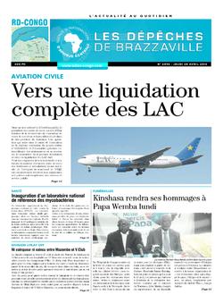Les Dépêches de Brazzaville : Édition kinshasa du 28 avril 2016