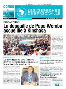 Les Dépêches de Brazzaville : Édition brazzaville du 29 avril 2016