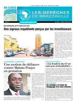 Les Dépêches de Brazzaville : Édition kinshasa du 02 mai 2016