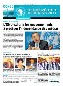 Les Dépêches de Brazzaville : Édition brazzaville du 04 mai 2016