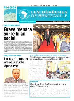 Les Dépêches de Brazzaville : Édition kinshasa du 04 mai 2016