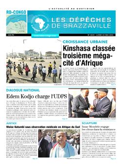 Les Dépêches de Brazzaville : Édition kinshasa du 23 mai 2016