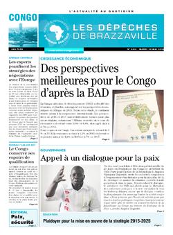 Les Dépêches de Brazzaville : Édition brazzaville du 24 mai 2016