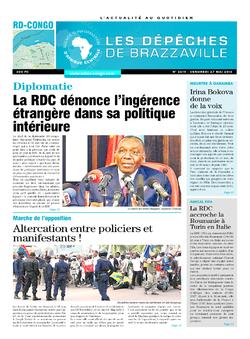 Les Dépêches de Brazzaville : Édition kinshasa du 27 mai 2016