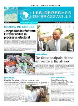 Les Dépêches de Brazzaville : Édition kinshasa du 20 juin 2016