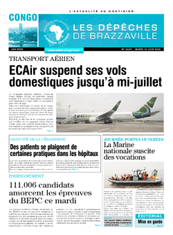 Les Dépêches de Brazzaville : Édition brazzaville du 21 juin 2016