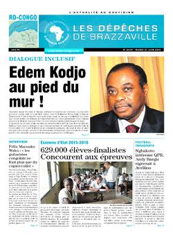 Les Dépêches de Brazzaville : Édition kinshasa du 21 juin 2016