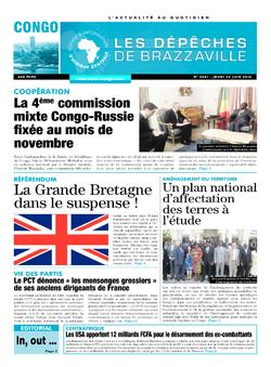 Les Dépêches de Brazzaville : Édition brazzaville du 23 juin 2016